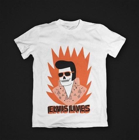 Футболка Elvis Lives - S. Женская