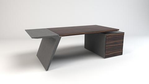 Pigreco стол на опорной тумбе 3 ящика