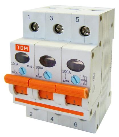 Выключатель нагрузки (мини-рубильник) ВН-32 3P 20A TDM