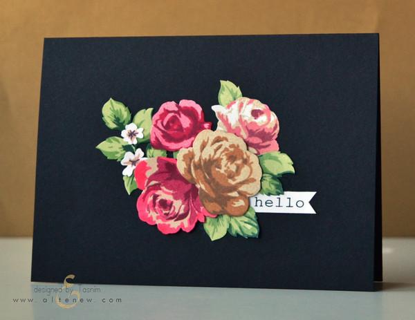 Набор штампов Vintage Roses