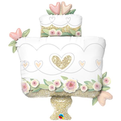Фольга-фигураТорт свадебный блеск