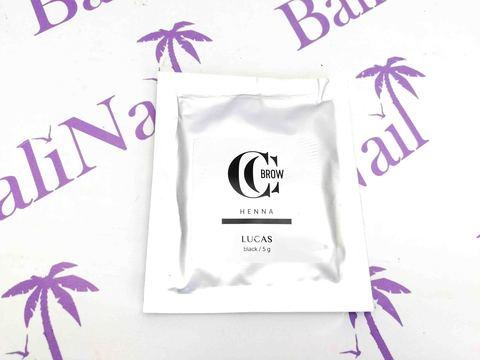CC BROW, Хна для бровей CC Brow (black) в саше (черный), 5 гр