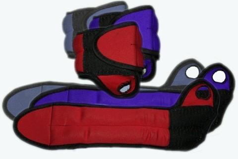 Утяжелитель для запястья рук с петлёй для фиксации на большом пальце.  Вес 2х1,0 кг. :(DB16-2К,СЕ):