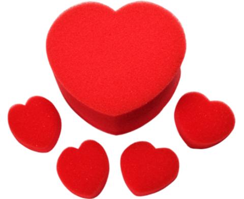 Умножающиеся поролоновые сердца