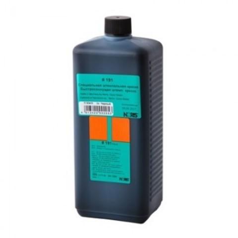 Краска штемпельная Noris 191Eч черная на водной основе с содержанием спирта 1000 г