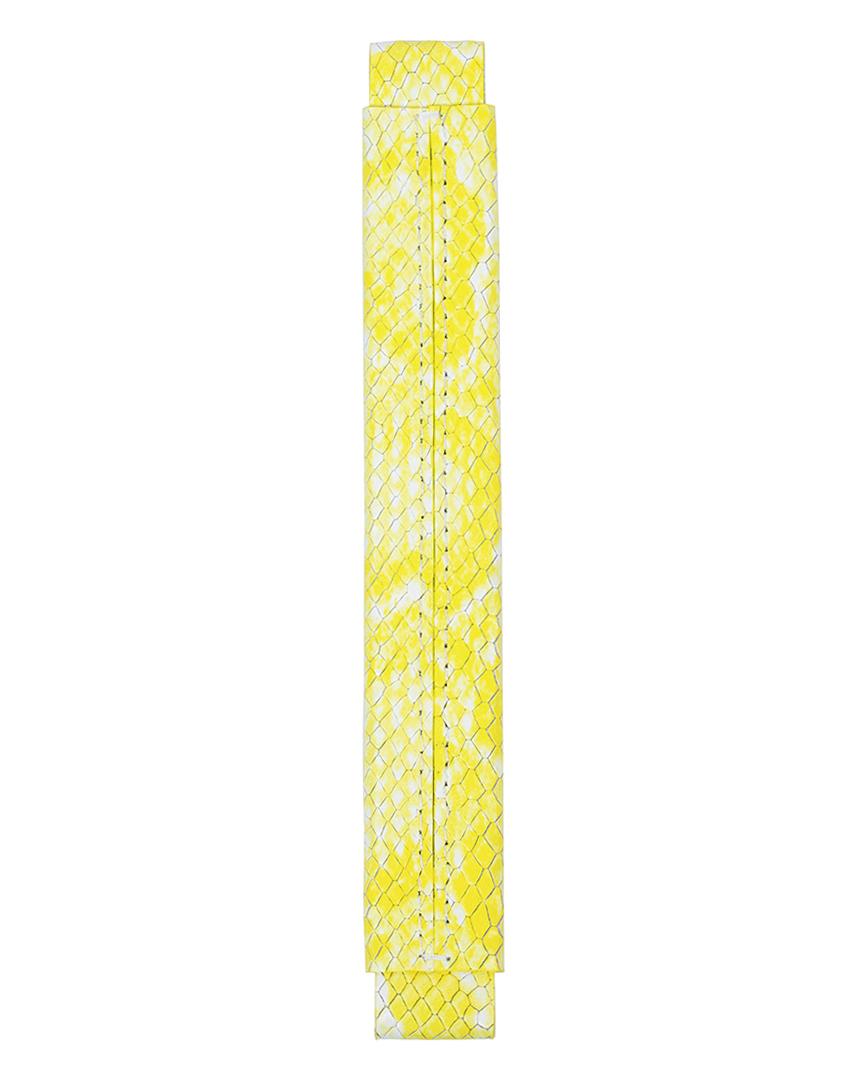 Сменная ручка из кожи с фактурой питона желтого цвета