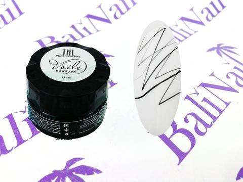 TNL  Гель-краска для тонких линий Voile №01 паутинка (черная), 6мл.