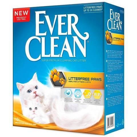 Ever Clean LitterFree Paws комкующийся наполнитель для чистых лап д/кошек (10 кг)