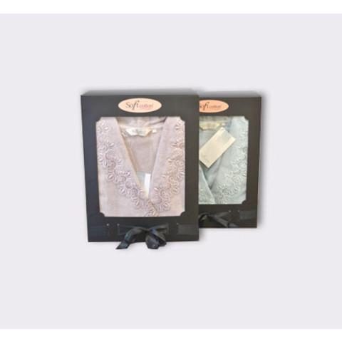 VICTORIA ВИКТОРИЯ махровый женский халат Soft Cotton (Турция)