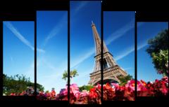 "Модульная картина ""Башня в Париже"""