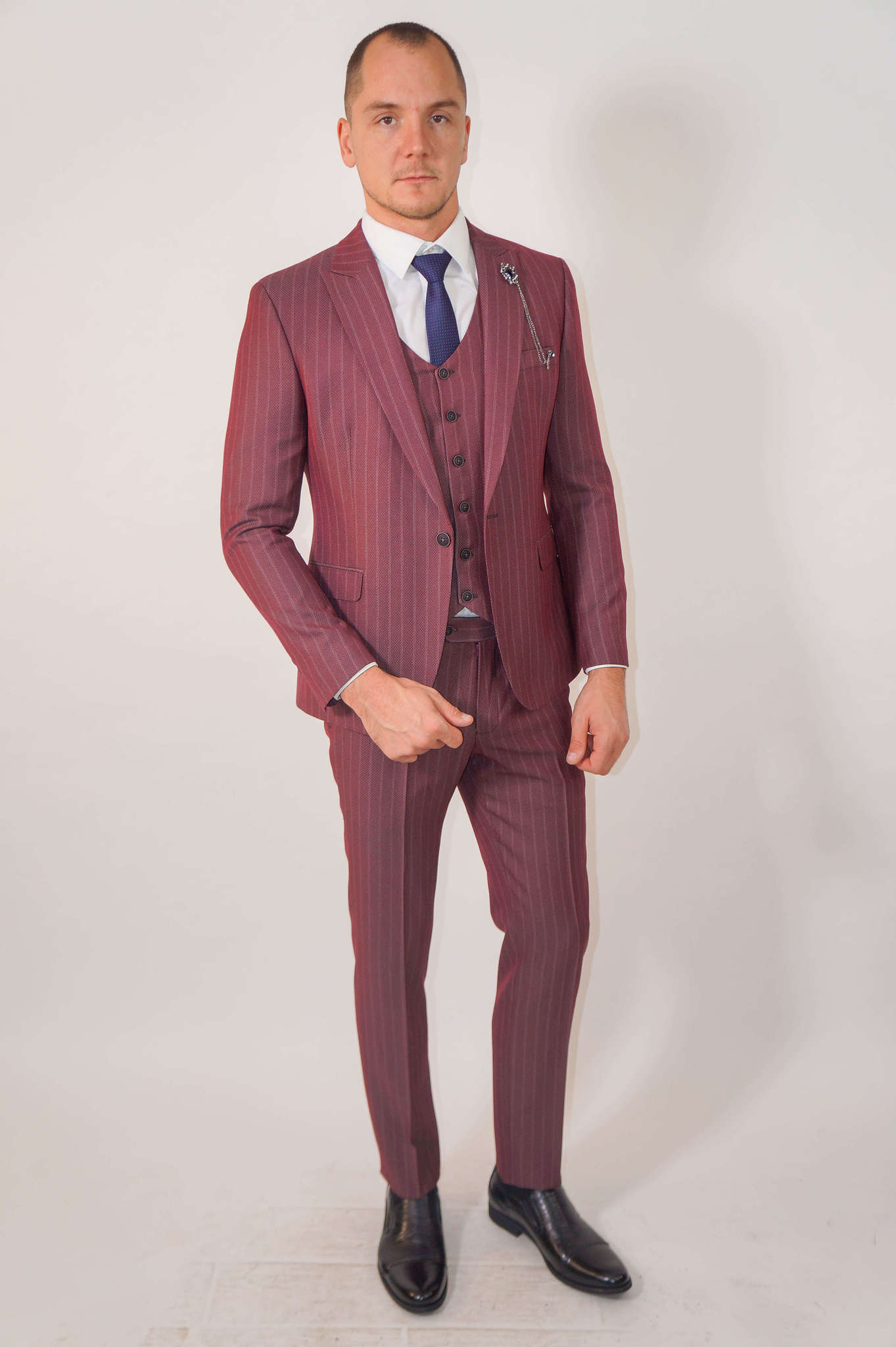 Костюмы Slim fit CESARE MARIANO / Костюм - тройка slim fit DSC02353.jpg