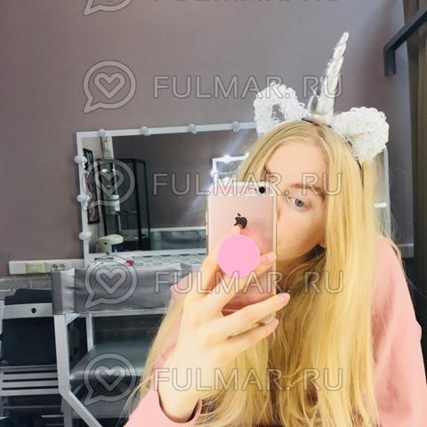 Ободок на голову Единорог с ушками блёстками Белый-Серебристый