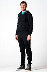 Костюм спортивный Nordski Base Zip Hood Cuffed Black мужской