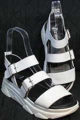 Модные женские сандалии из натуральной кожи Evromoda 3078-107 Sport White