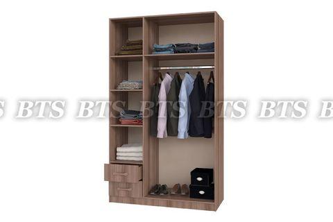 Шкаф 3-х ств.с ящиками (1290х2200х560)
