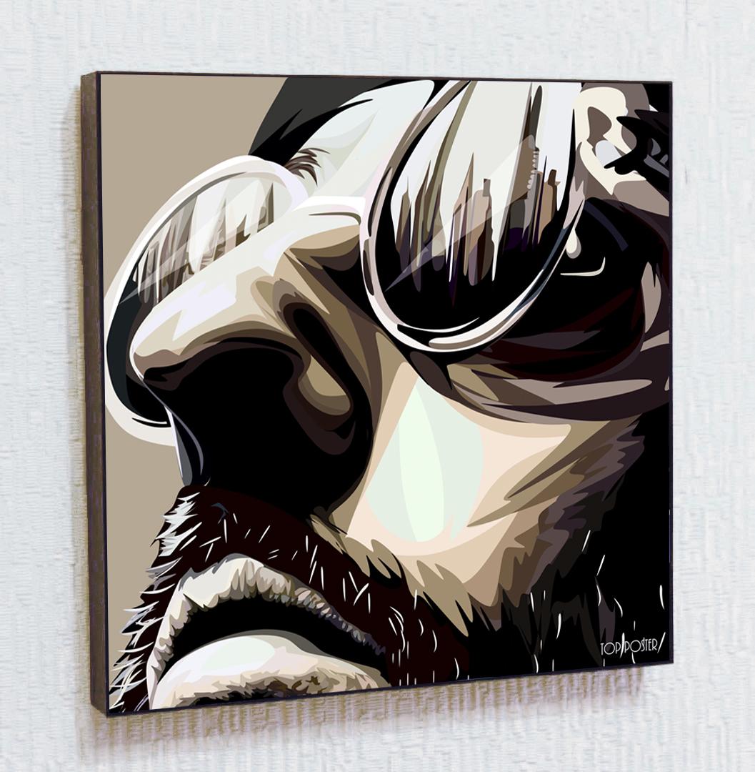 Леон (Жан Рено) Картина ПОП-АРТ портрет постер
