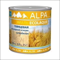 Эмаль для внутренних и наружных работ ALPA Экоэмаль глянцевая (Белый)