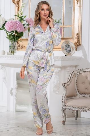 Шелковая пижама Lilianna 3256 (70% нат.шелк)