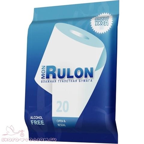 Mon Rulon. Детская влажная туалетная бумага, 50 шт.