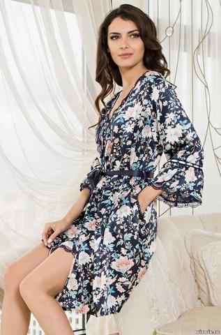 Короткий халат Mia-Amore 5963  EMILIA (70% шелк)