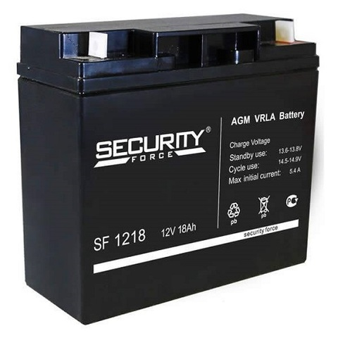 SF 1218 аккумулятор 12В/18Ач Security Force