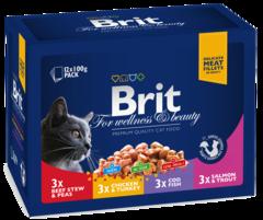 """Паучи для кошек, Brit Premium, """"Семейная тарелка"""""""