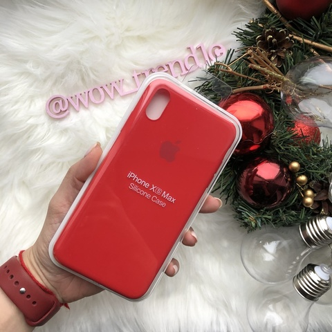 Чехол iPhone XS Max Silicone Slim Case /red/