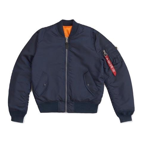 Куртка бомбер Alpha Industries MA-1 Slim Fit/European Fit Replica Blue