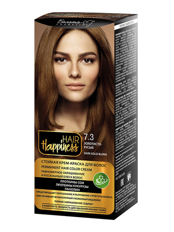 Белита-М Hair Happiness Крем-краска для волос аммиачная №7.3 золотисто-русый