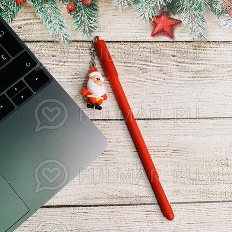 Ручка с Дедом Морозом сувениром шариковая на масляной основе