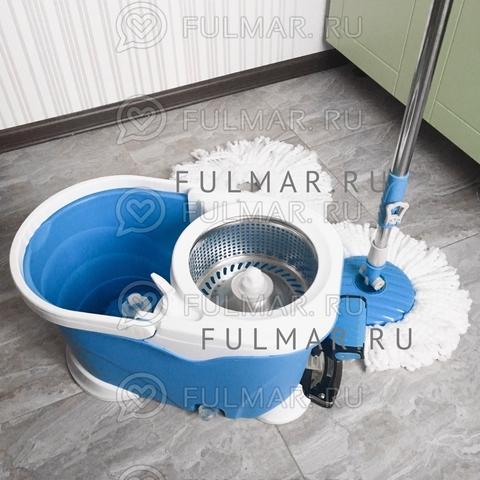 Швабра и ведро с педалью для отжима и полоскания Spin Mop 9 литров