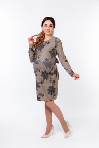 Платье для беременных 09819 коричневый