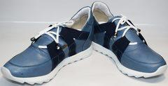 Стильные кроссовки женские Ledy West 1484 115 Blue.
