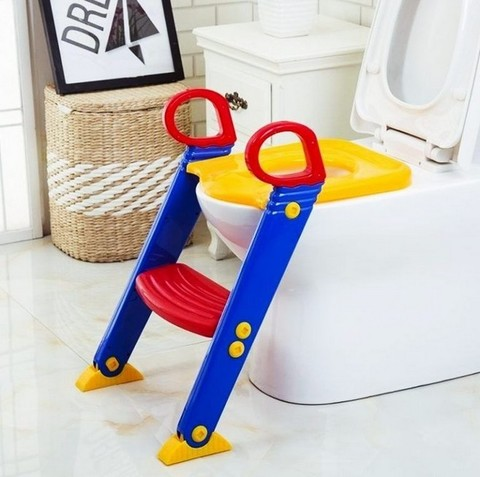 Детское сиденье стульчак для унитаза со ступенькой Froggie