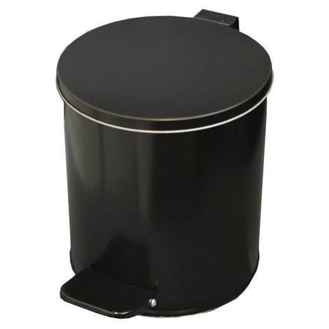 Урна стальная 7 л черная, 200 ммx230 мм