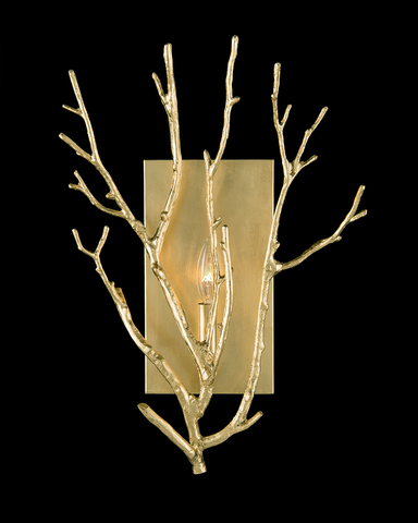 Branched Single-Light Wall Sconce