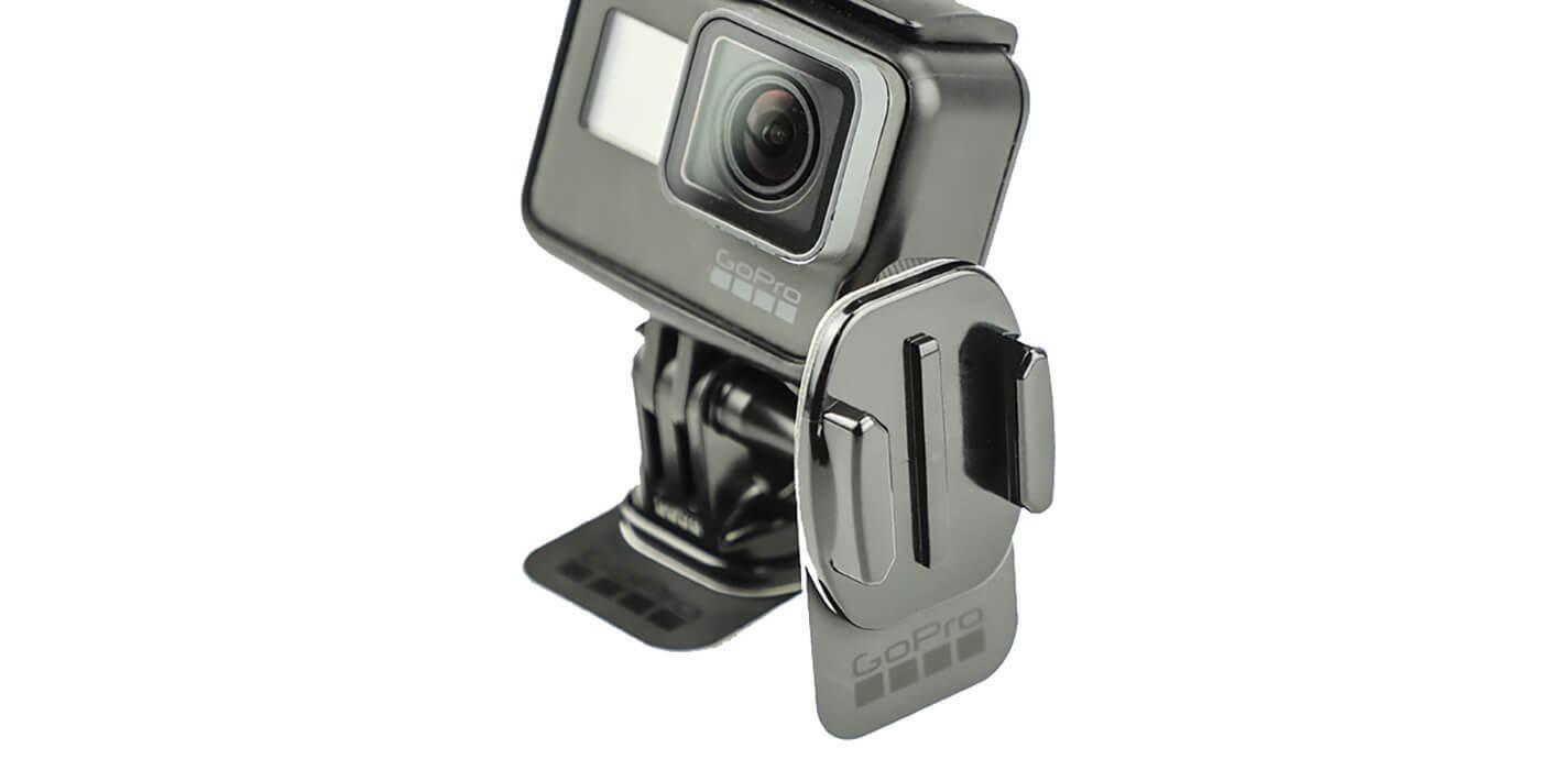 Съемные клеящиеся платформы GoPro Removable Instrument Mounts (AMRAD-001) + камера вид сбоку