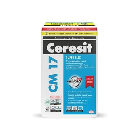 Ceresit CM 17 SUPER FLEX/Церезит ЦМ 17 СУПЕР ФЛЕКС суперэластичный клей для плитки и керамогранита