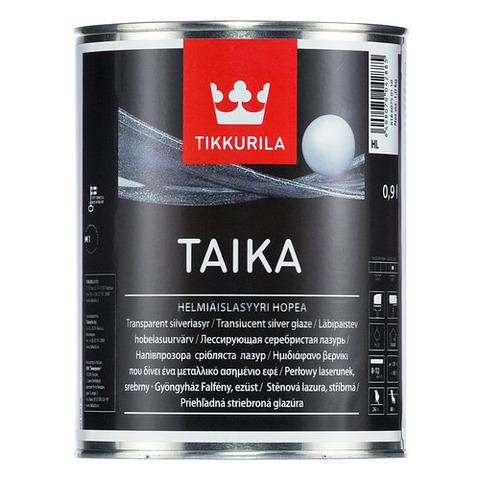 Tikkurila Taika/Тиккурила Тайка одноцветная перламутровая лазурь