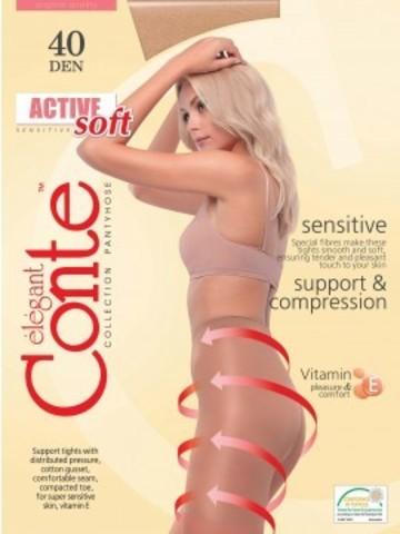 Conte Active Soft Колготки женские 40d, p.3 mocca