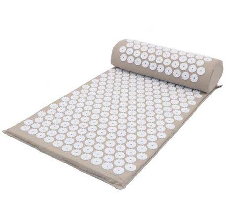 Коврик для йоги акупунктурный массажный комплект из коврика и валика Acupressure Mat