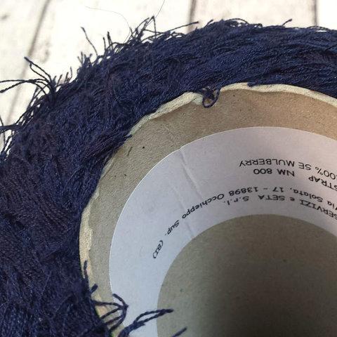Травка шелковая SERVIZI E SETA / STRAP 800 темно-синий