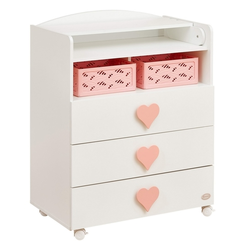 Корзинка для комода Emily розовая