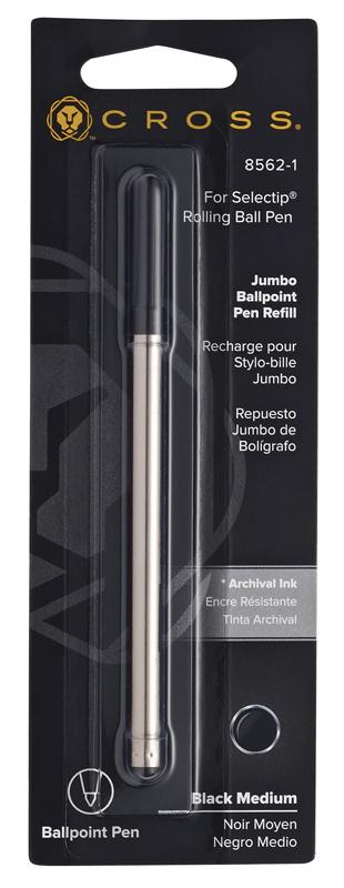 Cross Стержень шариковый для ручки-роллера Selectip, M, черный