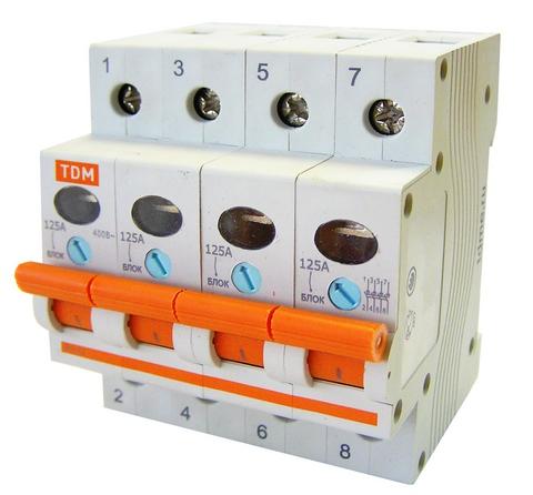 Выключатель нагрузки (мини-рубильник) ВН-32 4P 80A TDM