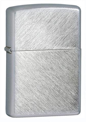 Зажигалка Zippo с покрытием Herringbone Sweep, латунь/сталь, серебристая, матовая, 36x12x56123