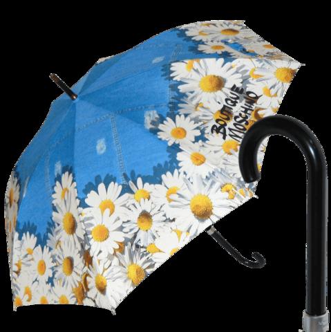 Зонт трость с ромашками