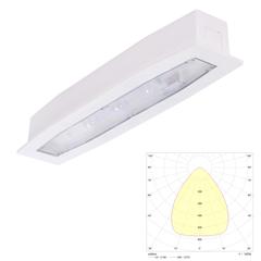 Встраиваемый светильник аварийного освещения для высоких потолков Suprema LED SOH PT IP54 Intelight