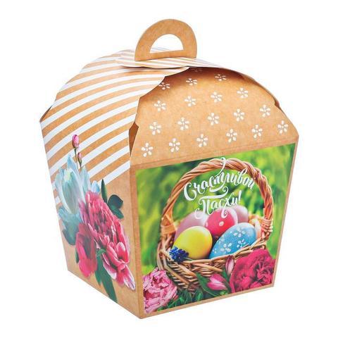 Коробка складная «Счастливой Пасхи», 17х17х26 см