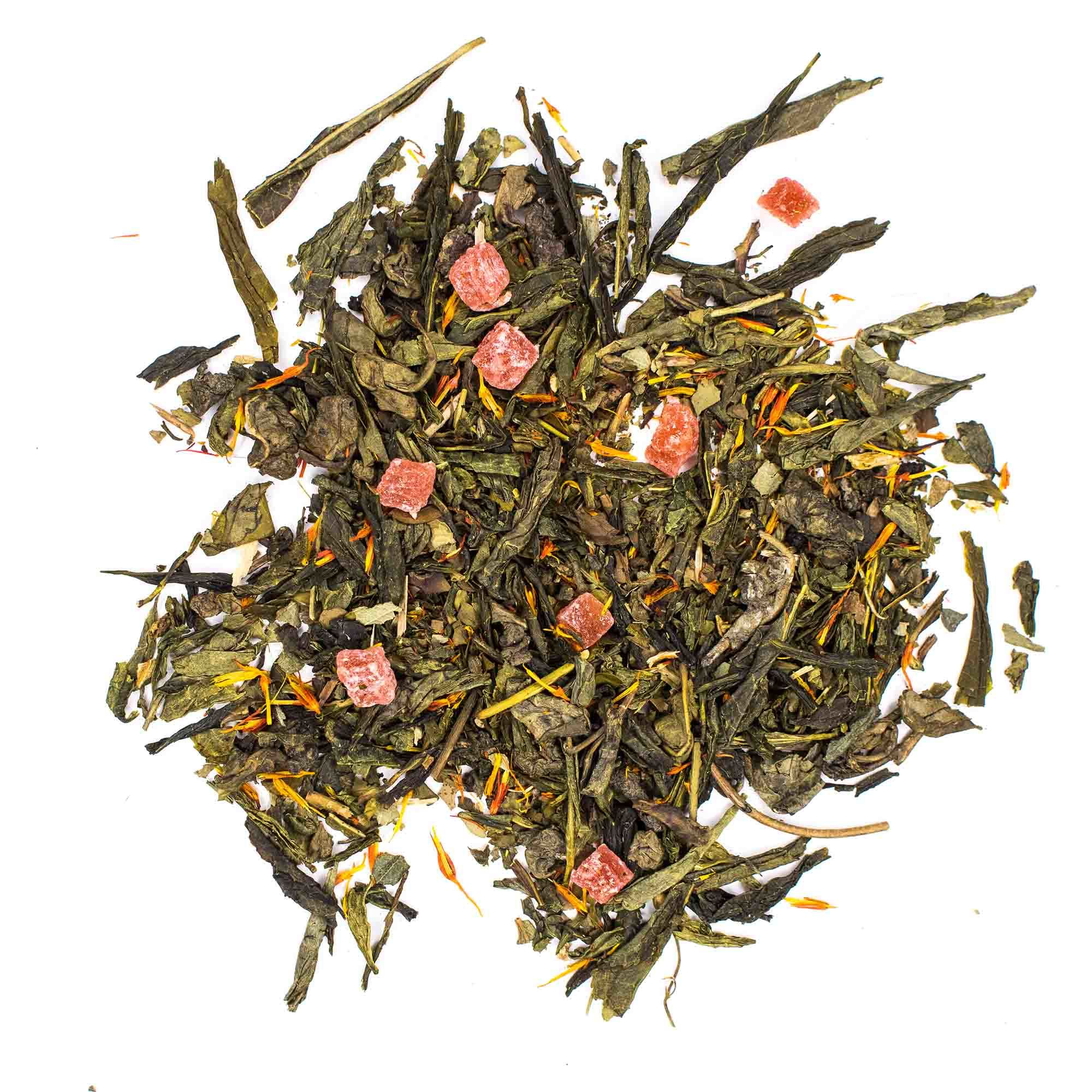 "Зеленый чай ""Клубника со сливками"" 100гр зелёный чай с добавками chayklubnikasoslivkami-teastar.jpg.jpg"